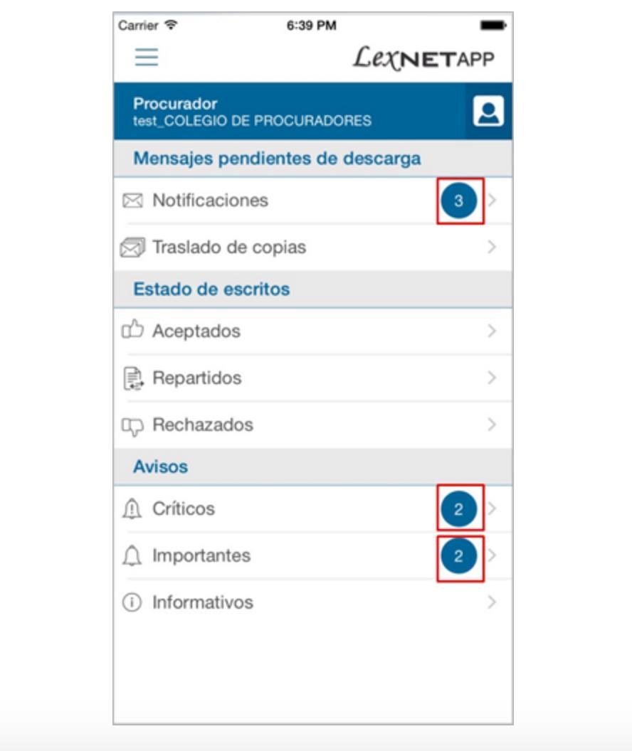 Adem s del aviso de notificaciones recibidas se puede acceder a una breve informaci n de la misma y conocer de qu asunto se trata